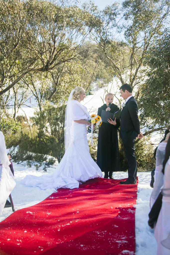 Thredbo Wedding ceremony